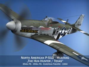 North American P51D The Hun Hunter Texas