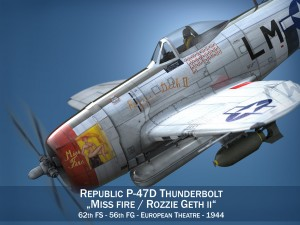 Republic P-47D Thunderbolt - Rozzie Geth II