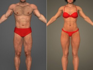 Realistic Bodybuilder Male  Female