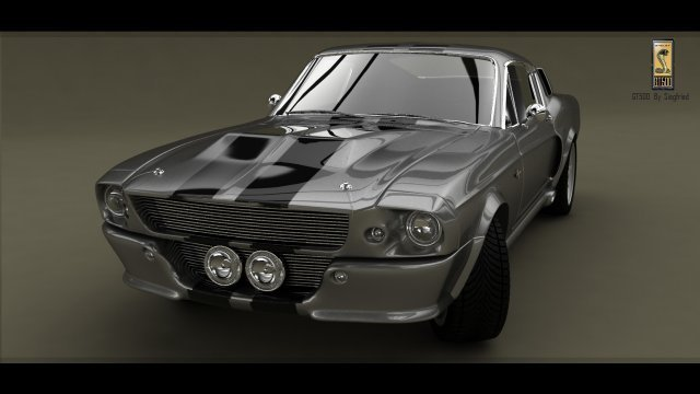 Ford Mustang Shelby GT 500 1967 3D Model