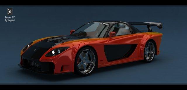 Veilside Fortune RX7 3D Model