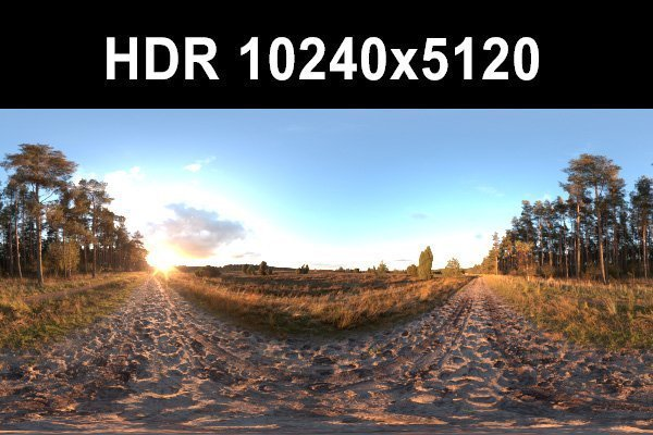 Meadow 6 Afternoon HDR Panorama 3D Model