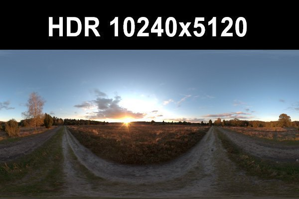 Meadow 7 Afternoon HDR Panorama 3D Model