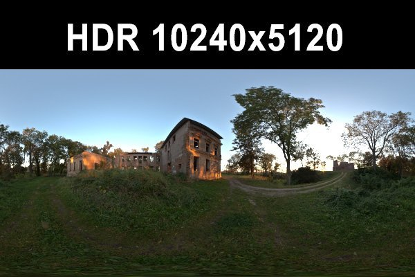 Ruin 4 Afternoon HDR Panorama 3D Model