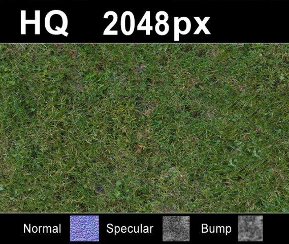Grass Lawn 5 Seamless Map 3D Model