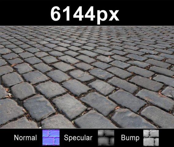 Paver Blocks 12  High Res Set 3D Model