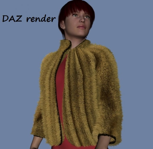 Fur bolero for DAZ Genesis  and FBX 3D Model