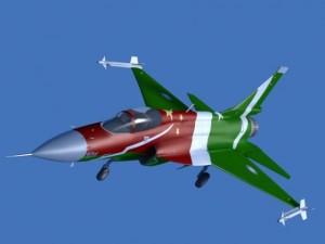JF17 Thunder Display Aircraft Low poly