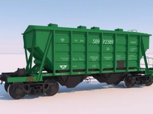 High poly 3D Model of RailWay hopper