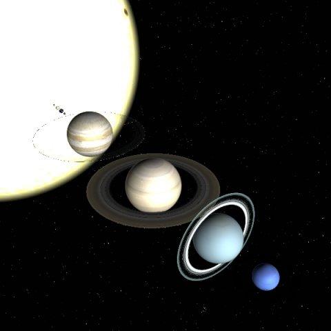 Solar System Planets  Sun 3D Model