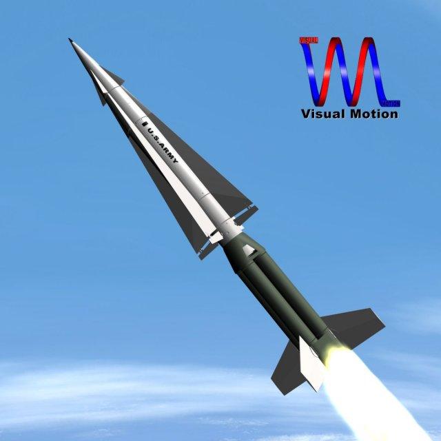 US Army Nike Hercules Missile 3D Model