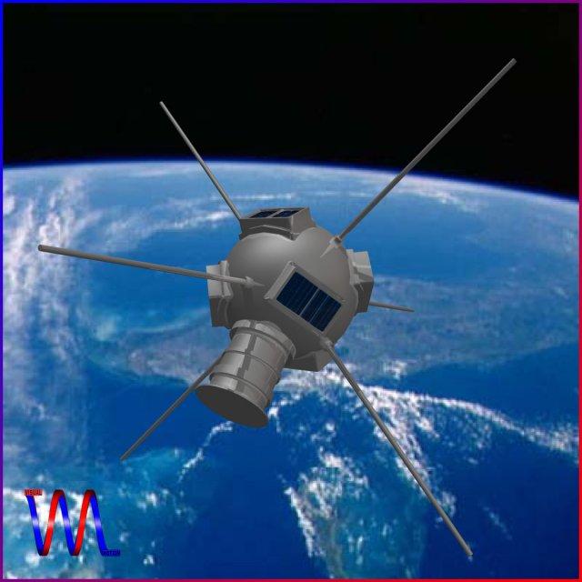 Vanguard I Satellite 3D Model
