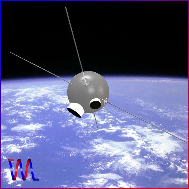 Vanguard II Satellite 3D Model