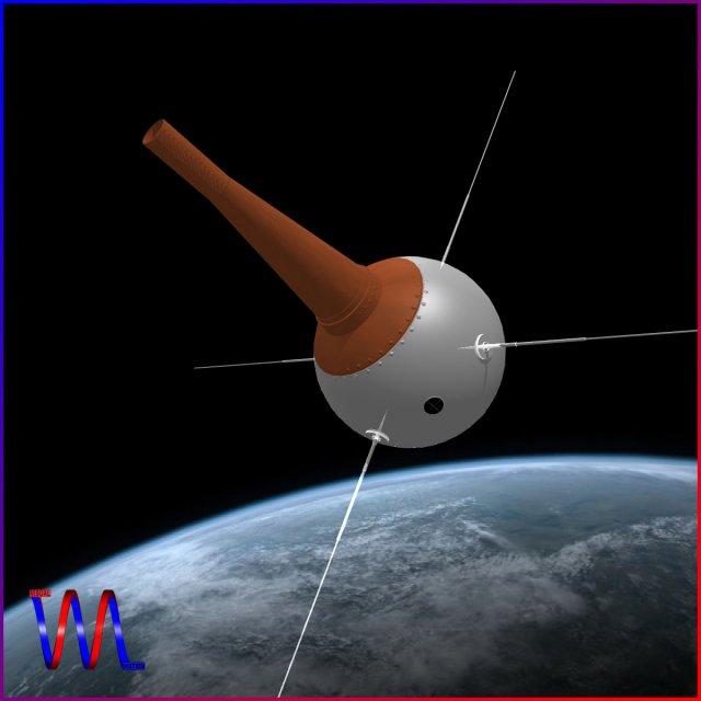 Vanguard III Satellite 3D Model