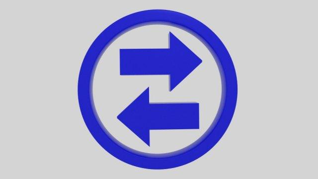 Twin Arrow Symbol 3D Model