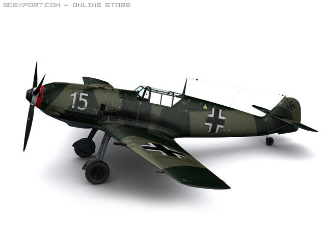 Messerschmitt BF109E3 Emil 3D Model