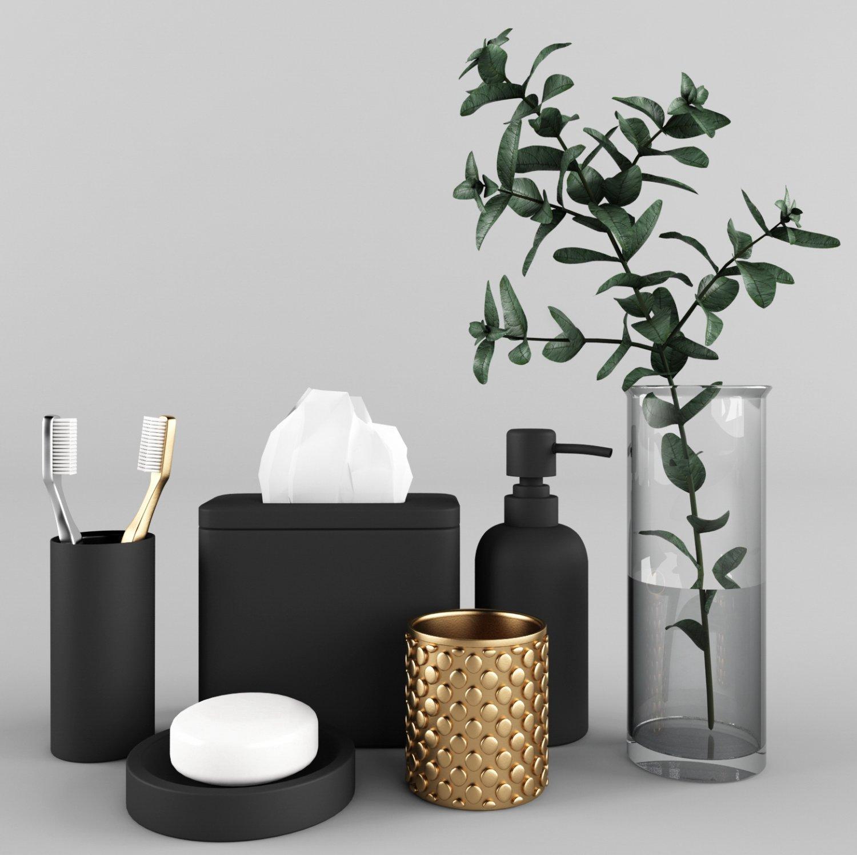 Bathroom Accessories Set 1 3D Model in Bathroom 3DExport