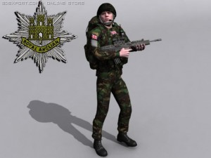 British Royal Anglian Woodland Soldier
