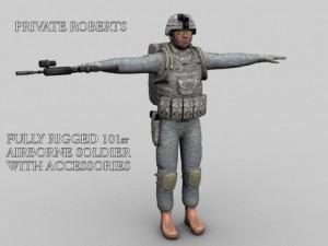 101st Airborne Soldier Pte Roberts
