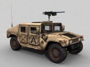 Military HMMWV Desert