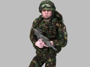 British Royal Marine Woodland Rigged Soldier