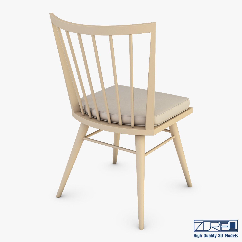Midcentury modern chair ensemble 3d model