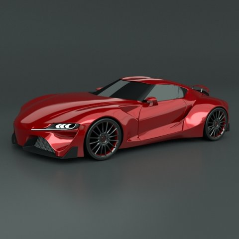 Toyota FT 1 concept restyled 3D Model