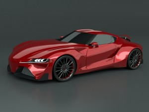 Toyota FT 1 concept restyled