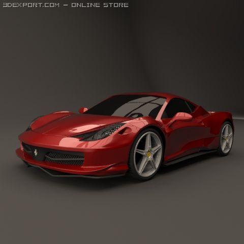Ferrari 458 restyled 3D Model