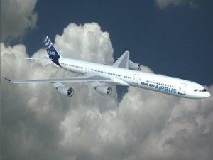 Airbus A340600 commercial airliner