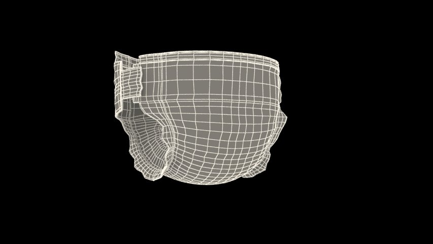 Diaper 3D Model in Other 3DExport