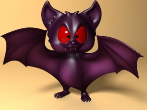 Cartoon Bat RIGGED and Animated