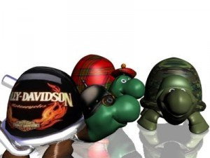 3 toon turtles 3D