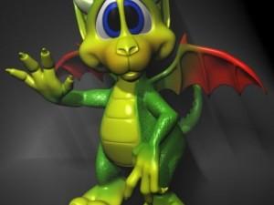 Cute Cartoon Dragon RIGGED