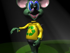Green Mouse Rigged