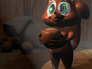 Cartoon Squirrel Character RIGGED