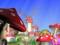 Cartoon Mushroom Village