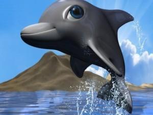 Cartoon Dolphin RIGGED