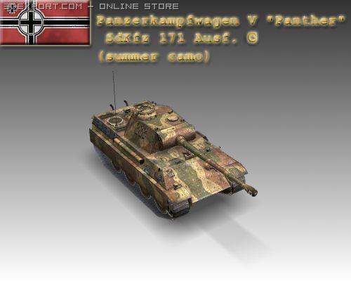 WW2 Pz V Panther SdKfz 171 Ausf G 3D Model