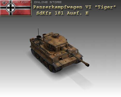 WW2 Pz VI Tiger SdKfz 181 Ausf E 3D Model