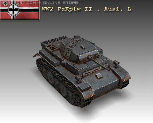 WW2 PzKpfw II  Ausf L 3D Model