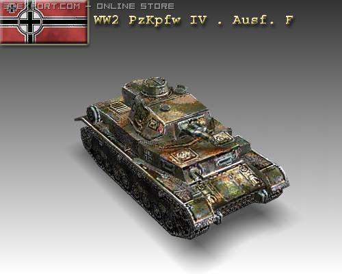 WW2 PzKpfw IV  Ausf F 3D Model
