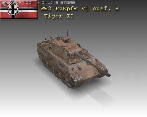 WW2 Panzer VI Ausf B Tiger II 3D Model