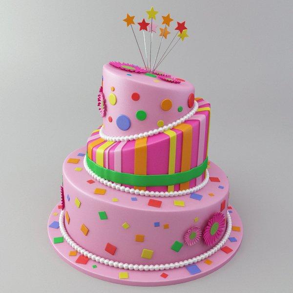Birthday Cake 3d Model In Sweets 3dexport