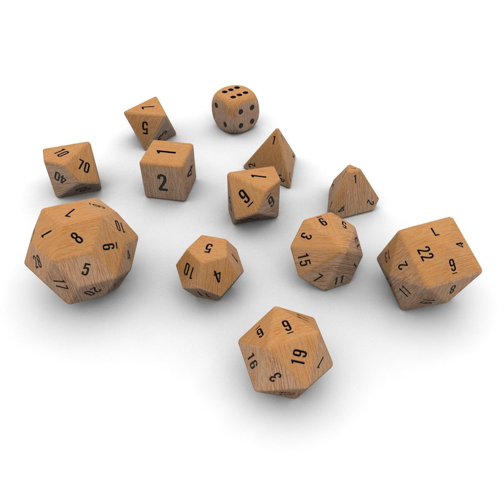 Polyhedral Dice Set Wood 3d Model In Other 3dexport