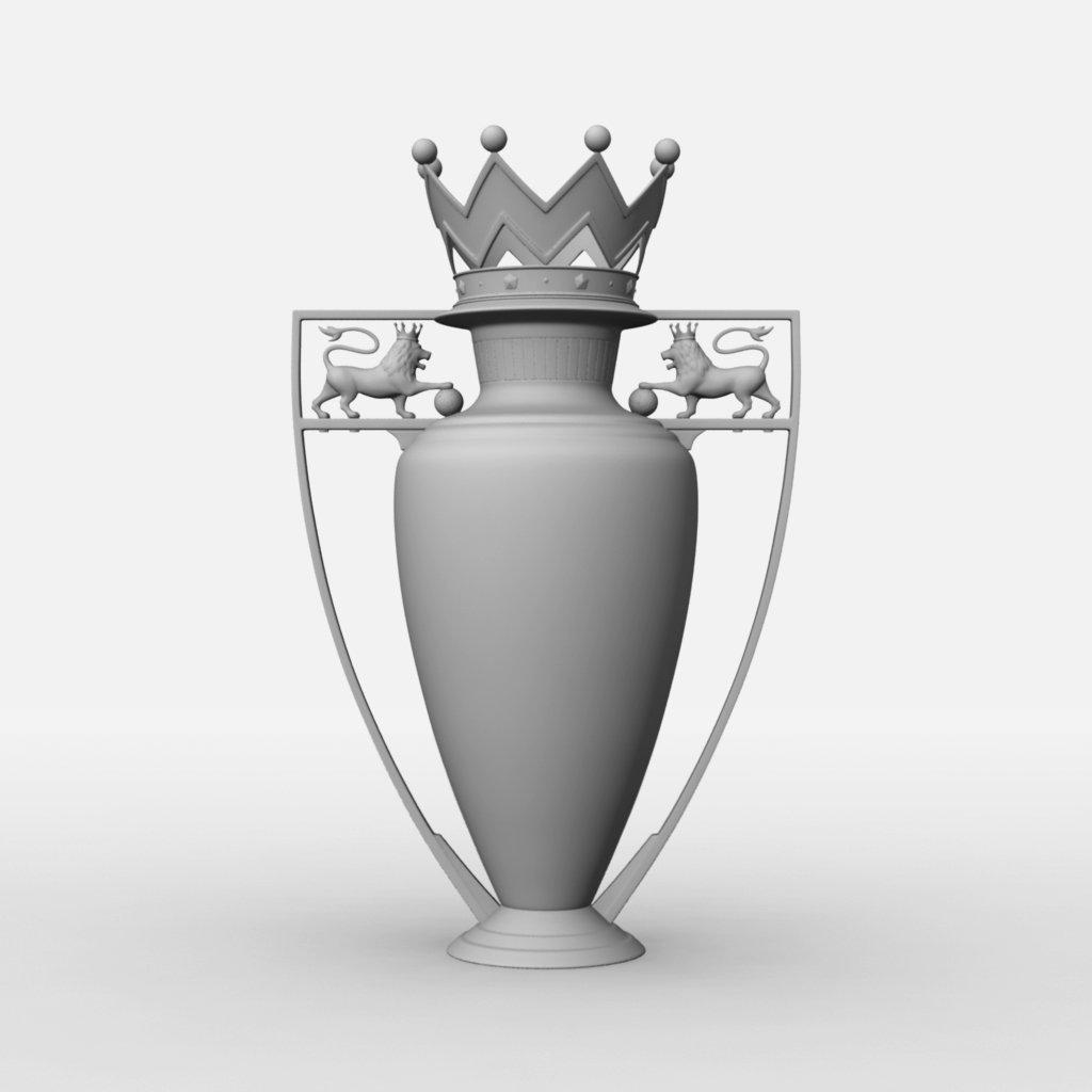 Premier League Cup Trophy 3D Model in Awards 3DExport