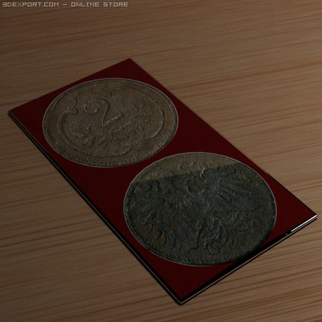 2 old coin 3D Model