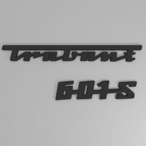 Download free Trabant rear emblem 3D Model
