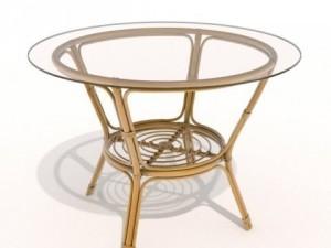 Rattanglass table
