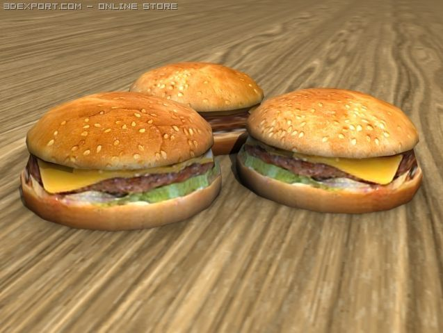 Cheese Burger 3D Model